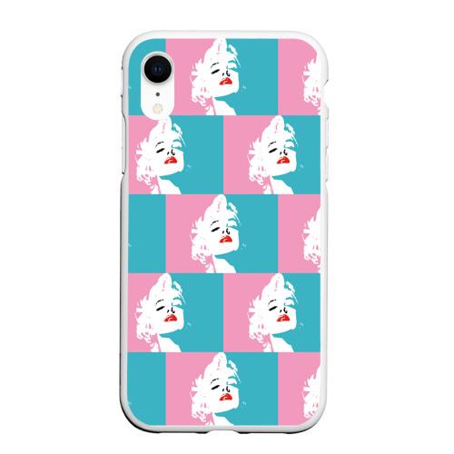 Чехол для iPhone XR матовый Marilyn Monroe