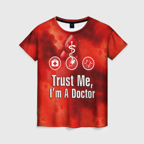 Женская футболка 3D Доктор