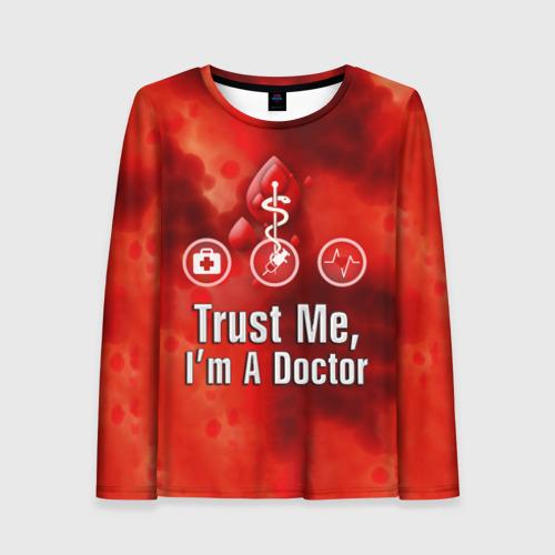 Женский лонгслив 3D Доктор