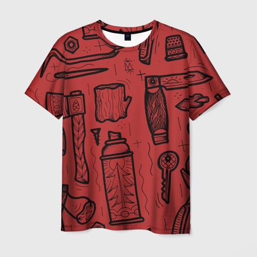 Мужская футболка 3D Инструменты