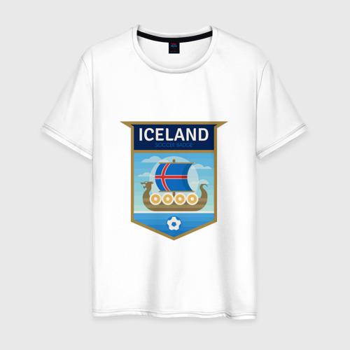Мужская футболка хлопок Футбол - Исландия