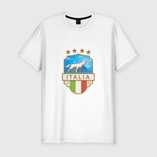 Мужская футболка хлопок Slim Футбол - Италия