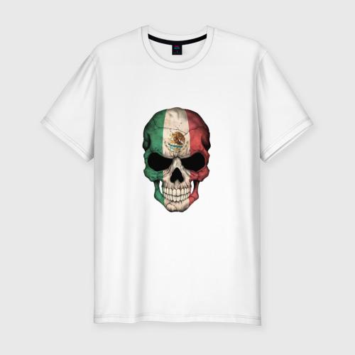 Мужская футболка хлопок Slim Череп - Мексика