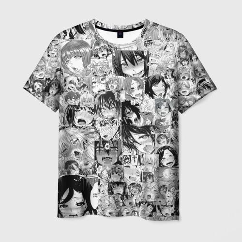 Мужская футболка 3D АХЕГАО ЛИЦА | AHEGAO FACES