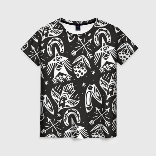 Женская футболка 3D Сибирь