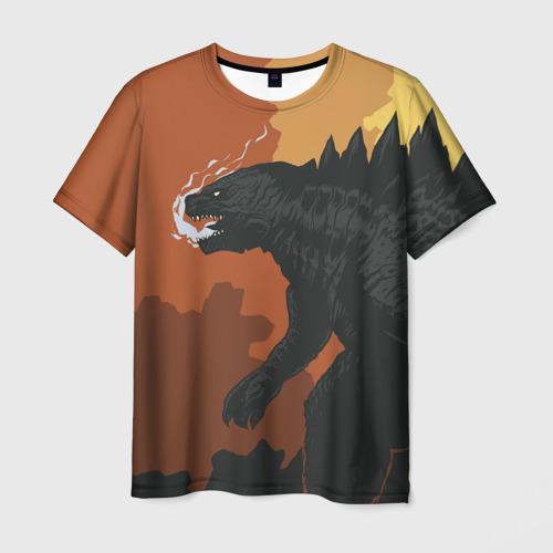 Мужская футболка 3D GODZILLA   ГОДЗИЛЛА