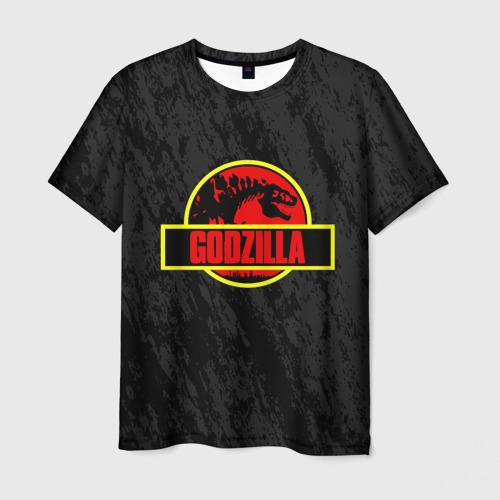 Мужская футболка 3D JURASSIC GODZILLA | ГОДЗИЛЛА
