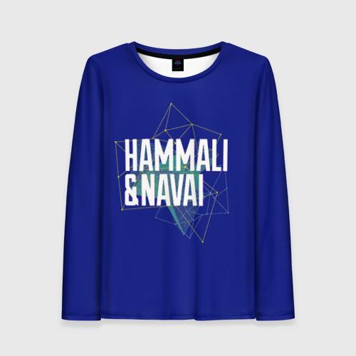 Женский лонгслив 3D HammAli Navai blue