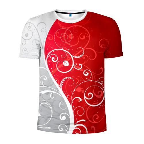 Мужская футболка 3D спортивная КРУЖЕВО