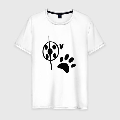 Мужская футболка хлопок Леди баг и супер кот