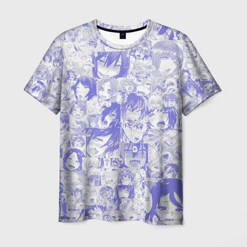 Мужская футболка 3D AHEGAO BLUE