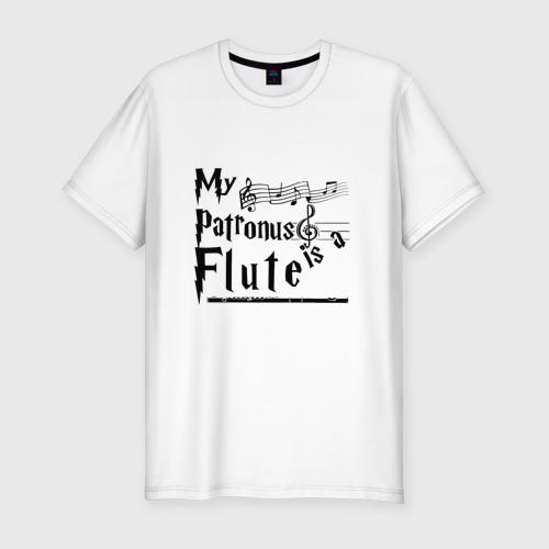 Мужская футболка хлопок Slim My patronus FLUTE