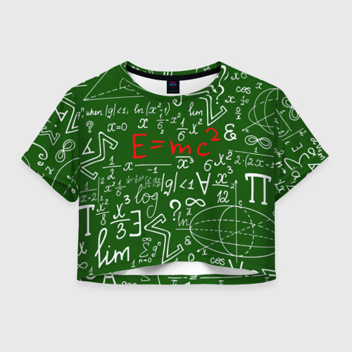 Женская футболка Crop-top 3D ФОРМУЛЫ ФИЗИКА