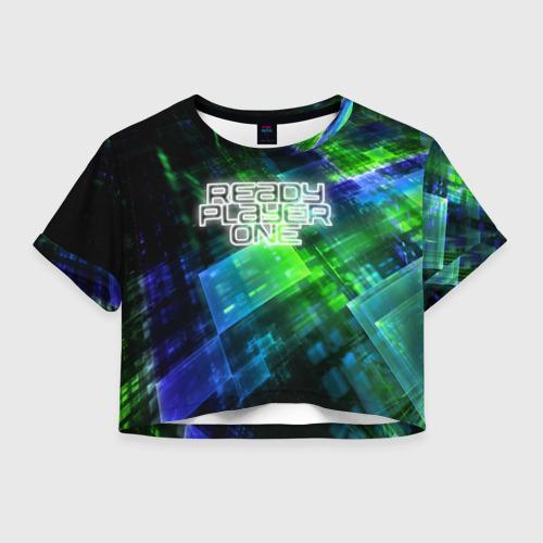 Женская футболка Crop-top 3D READY PLAYER ONE