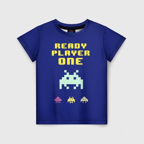 Детская футболка 3D Первому игроку приготовиться