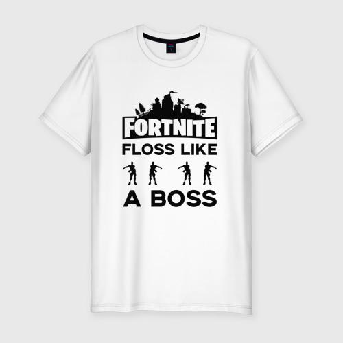 Мужская футболка хлопок Slim Floss like a boss