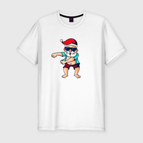 Мужская футболка хлопок Slim Santa floss