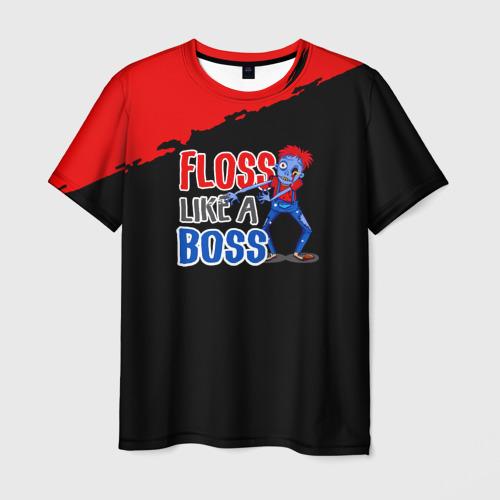 Мужская футболка 3D Floss like a boss