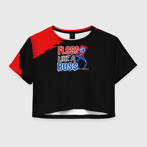 Женская футболка Crop-top 3D Floss like a boss