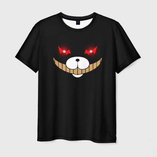 Мужская футболка 3D KUROKUMA на черном