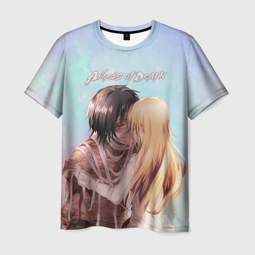 Мужская футболка 3D ANGELS OF DEATH. Love story
