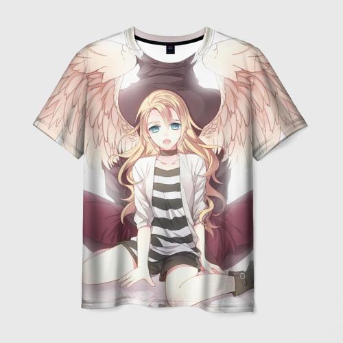 Мужская футболка 3D Рейчел ангел