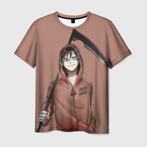 Мужская футболка 3D Зак с косой