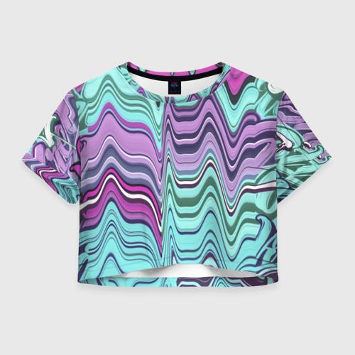 Женская футболка Crop-top 3D Melted letter