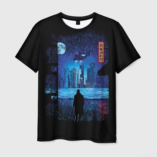 Мужская футболка 3D Бегущий по лезвию 2049 (1)