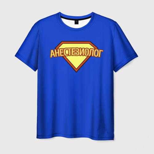 Мужская футболка 3D Анестезиолог