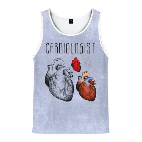 Мужская майка 3D кардиолог
