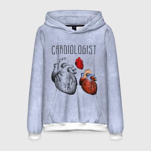 Мужская толстовка 3D кардиолог