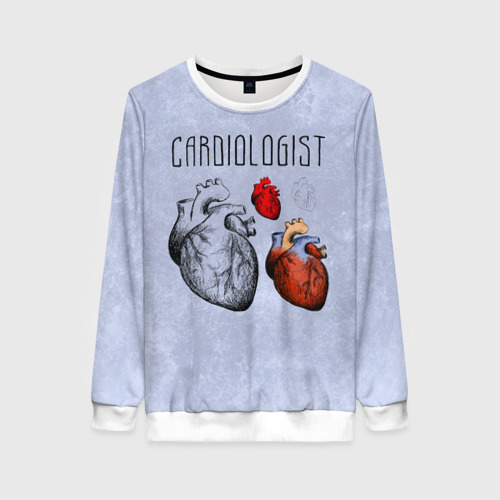 Женский свитшот 3D кардиолог