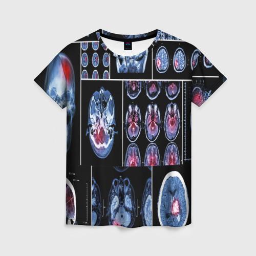 Женская футболка 3D неврология