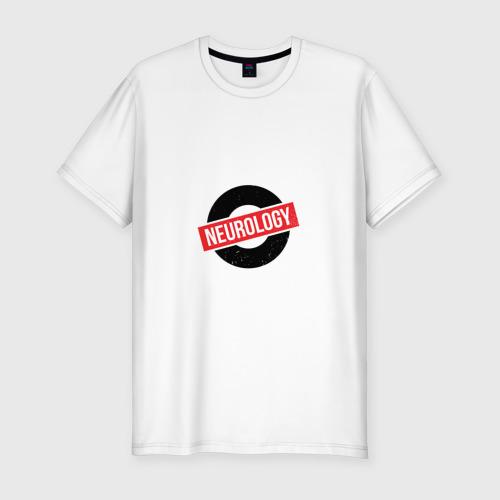 Мужская футболка хлопок Slim Неврология