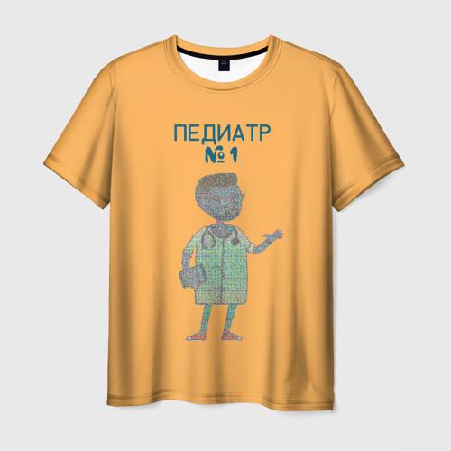 Мужская футболка 3D педиатр номер 1