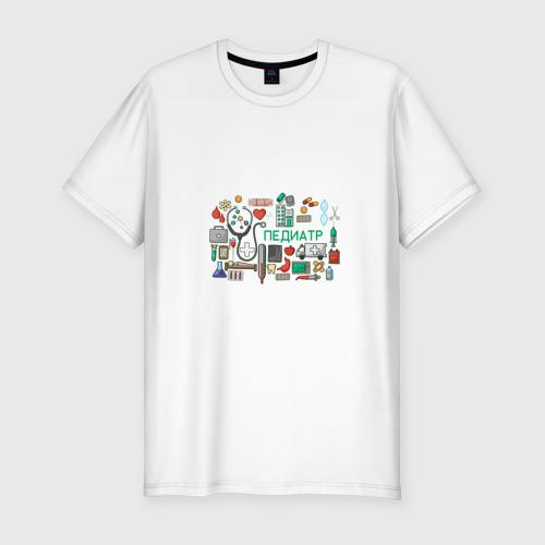 Мужская футболка хлопок Slim Детский врач