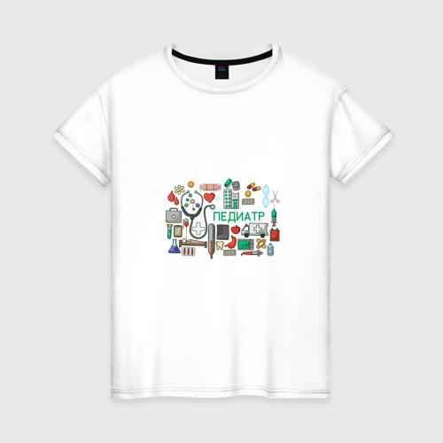 Женская футболка хлопок Детский врач