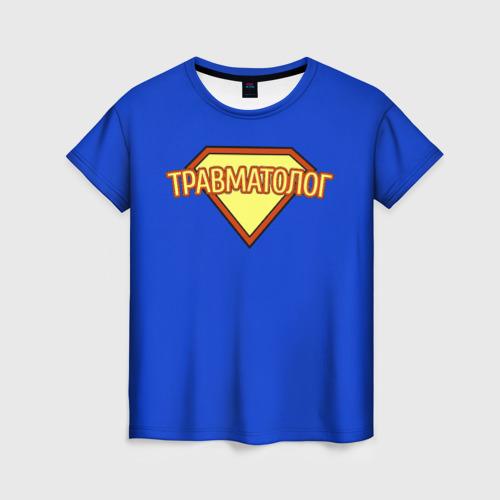 Женская футболка 3D травматолог