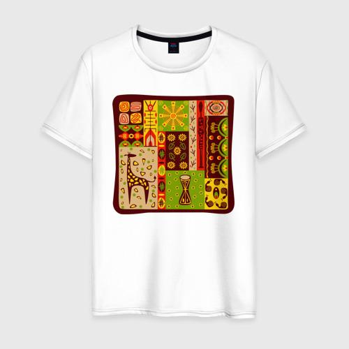 Мужская футболка хлопок Жираф