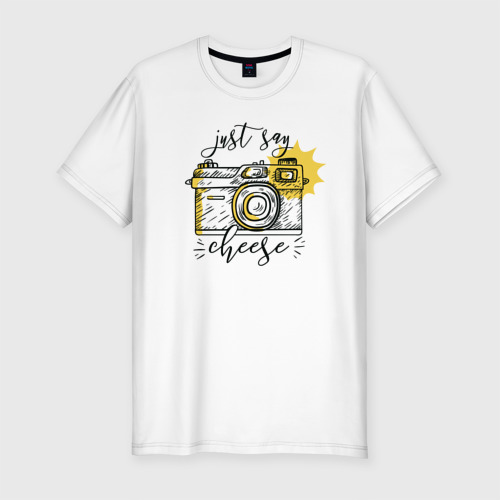 Мужская футболка хлопок Slim Фотоаппарат