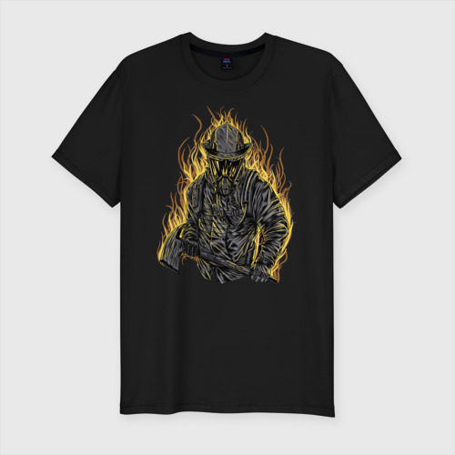 Мужская футболка хлопок Slim Пожарный