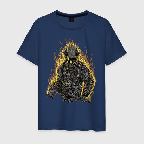 Мужская футболка хлопок Пожарный