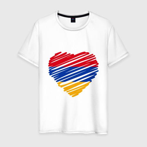 Мужская футболка хлопок Сердце Армении