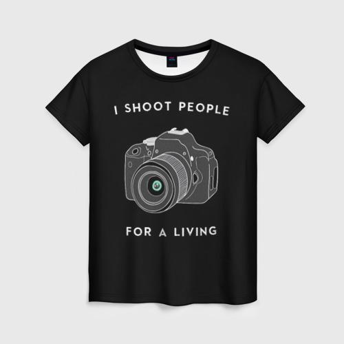 Женская футболка 3D Опасная Профессия