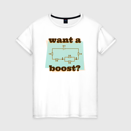 Женская футболка хлопок Электромеханик
