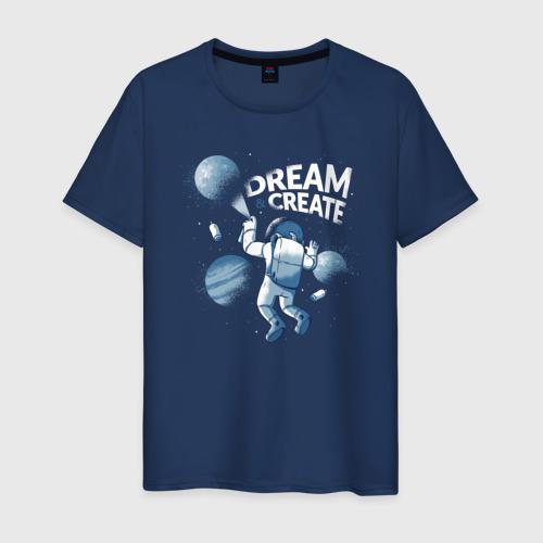 Мужская футболка хлопок Космонавт в Космосе