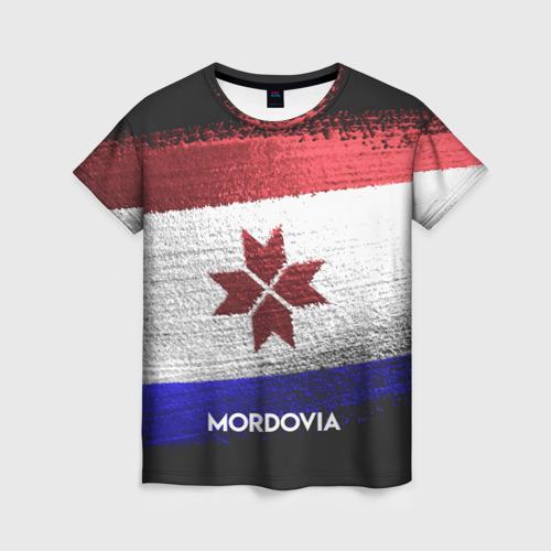 Женская футболка 3D MORDOVIA(Мордовия)