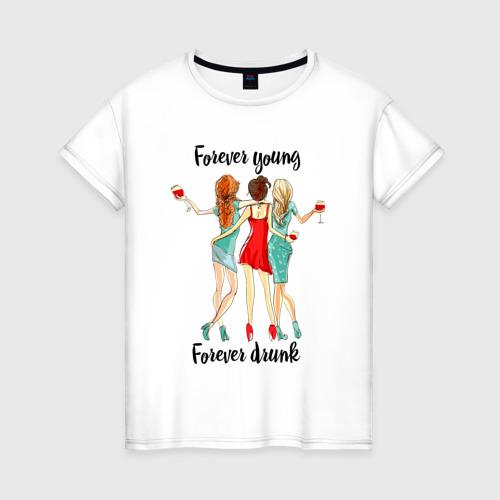 Женская футболка хлопок Три подруги
