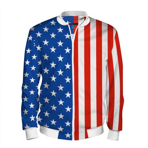 Мужской бомбер 3D Американский Флаг